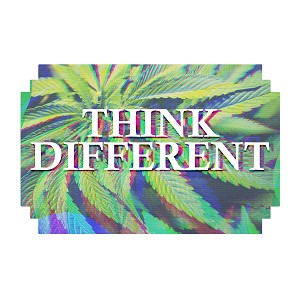 Think Different High Marijuana Pot Weed Sticker 5""