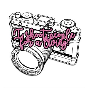 I Shoot People For A Living Photographer Joke Camera Sticker 4""