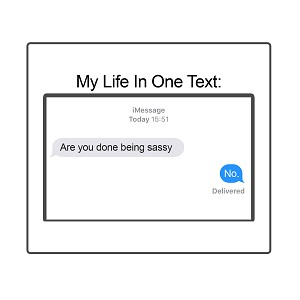 Are You Done Being Sassy No Funny Texting Sticker 4""
