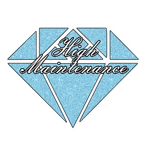 Diamond Sparkle High Maintenance Girl Glitter Sticker 5""