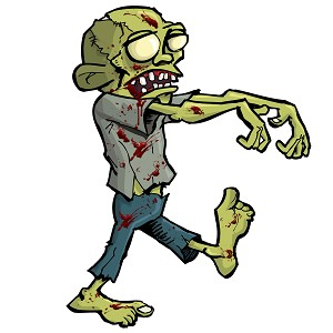 Zombie Walking Undead Bloody Character Sticker 5""