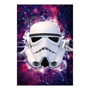 Storm Trooper Inspired Hemlet Silhouette Galaxy Sticker 4""