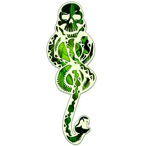 Evil Snake Symbol Slytherin Tom Riddle Sticker 6""