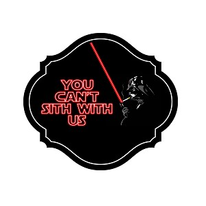 You Can't Sith With Us Parody Dark Side Sticker 5""