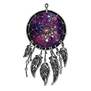 Galaxy Dream Catcher Southwest Indian Sticker 5""