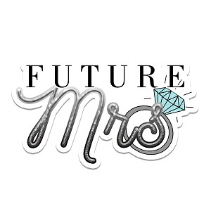 Future Mrs Engaged Diamond Ring Wedding Marriage Bride Sticker 6""
