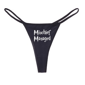 Mischief Managed Parody Funny Women's Cotton Thong Bikini