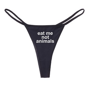 Eat Me Not Animals Funny Women's Cotton Thong Bikini