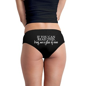 abd1ec847f2855 If You Can Read This Bring Me A Glass Of Wine Funny Women's Boyshort Underwear  Panties
