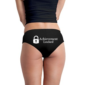 Achievement Locked Parody Game Funny Women's Boyshort Underwear Panties