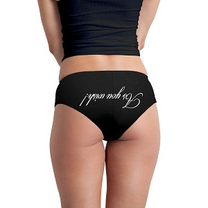 As You Wish Upside Down Parody Saying Funny Women's Boyshort Underwear Panties