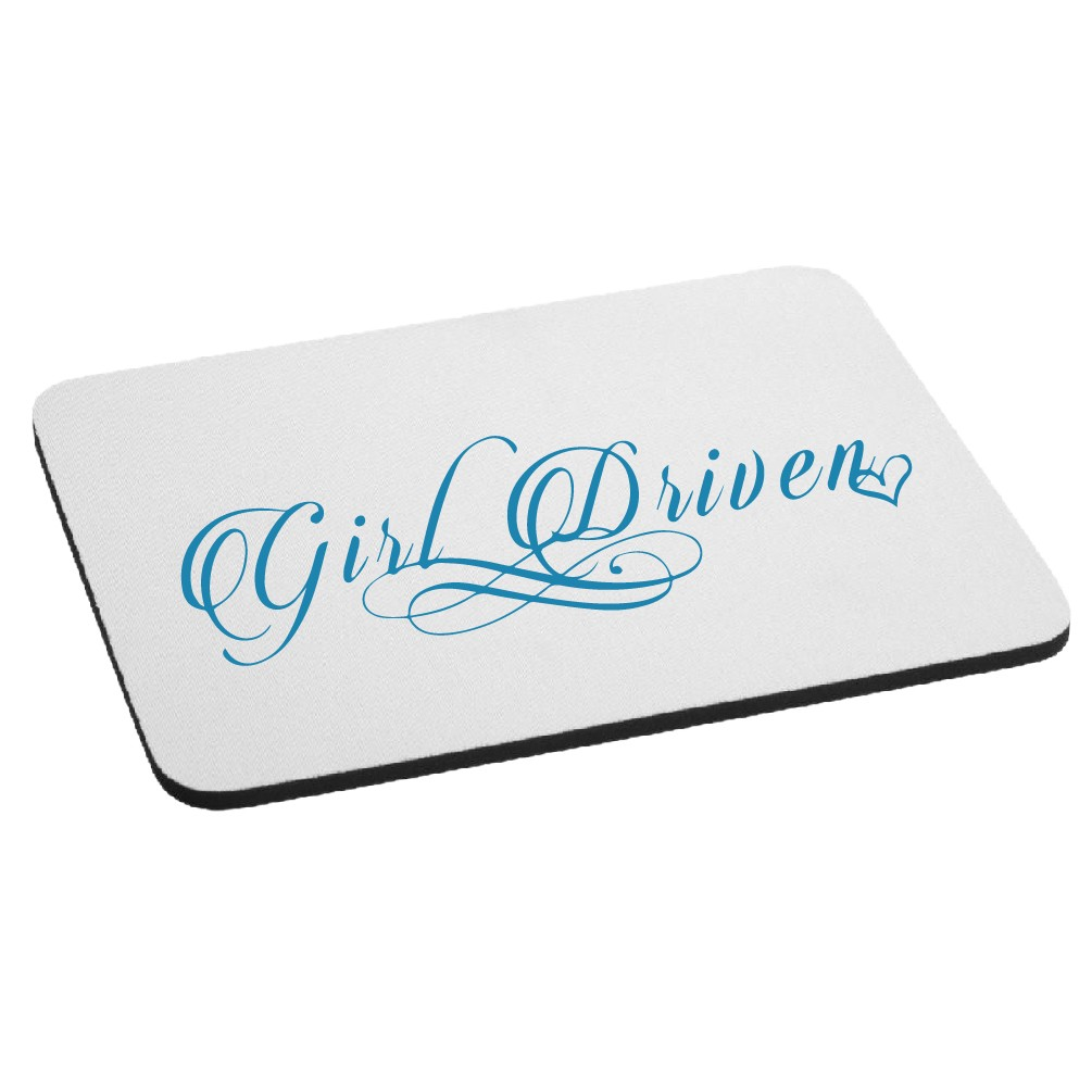 JDM Girl Driven Script Mouse Pad