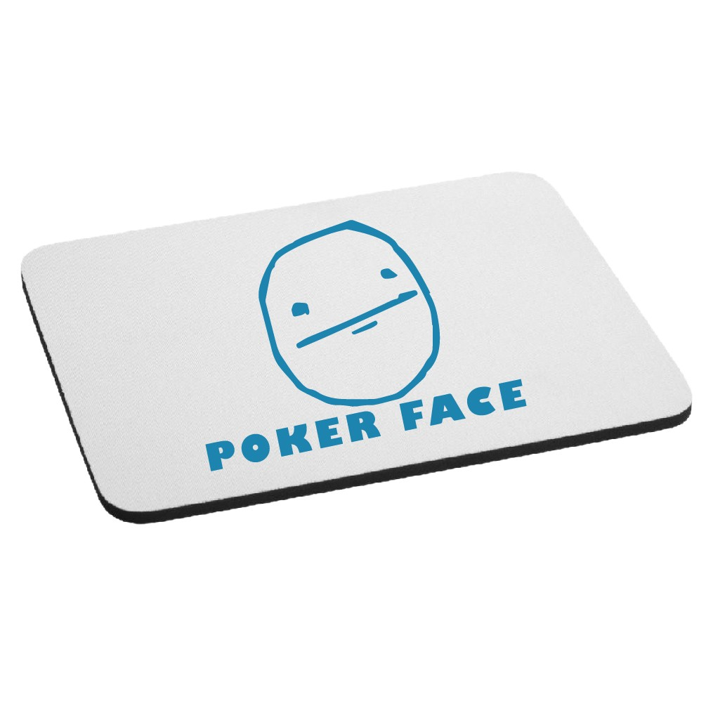 JDM Funny Poker Face Cartoon Meme Mouse Pad