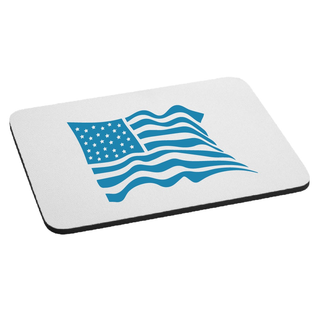 Waving USA Flag Patriotic Mouse Pad