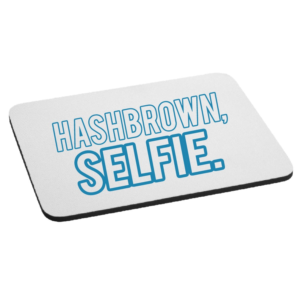 Hashbrown Selfie Funny Mouse Pad