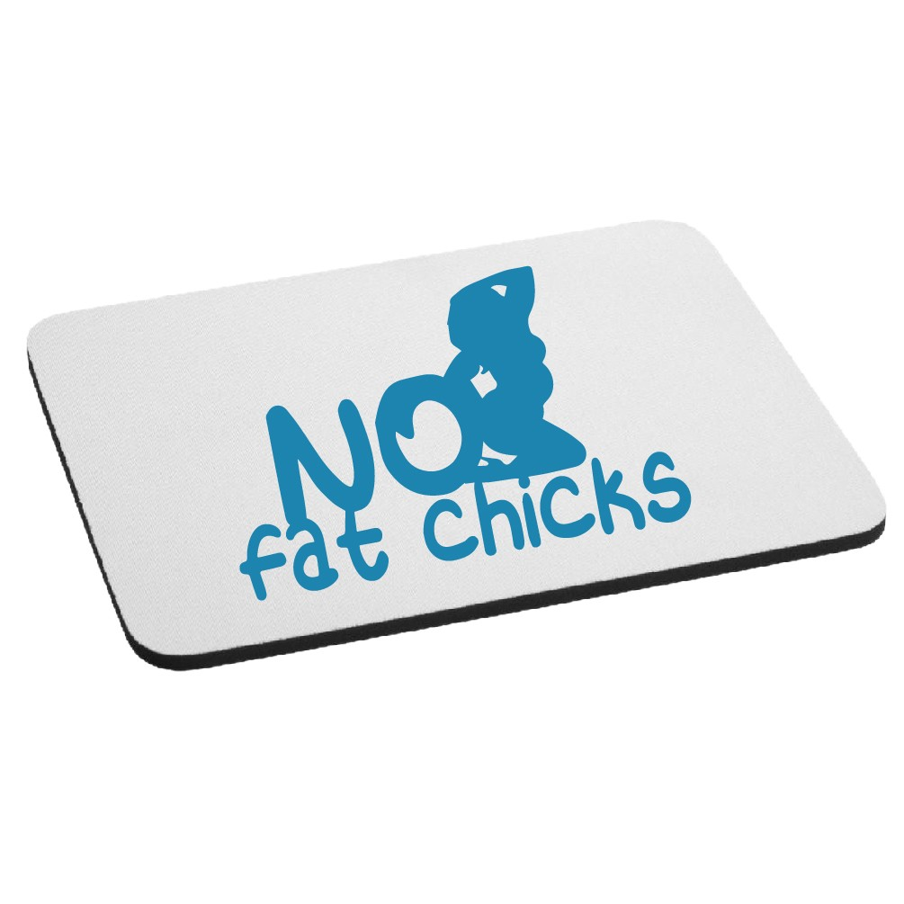 Funny JDM No Fat Chicks BBW Mouse Pad