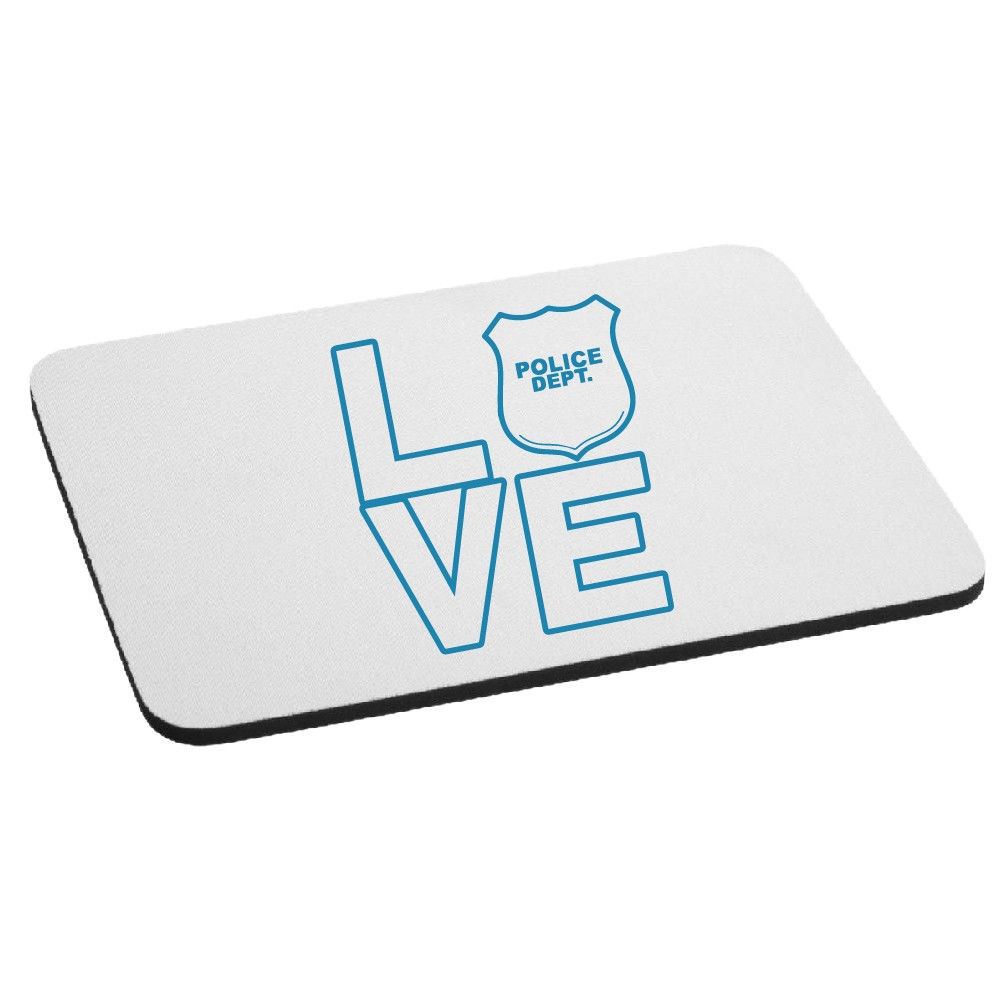 I Love the Police Mouse Pad