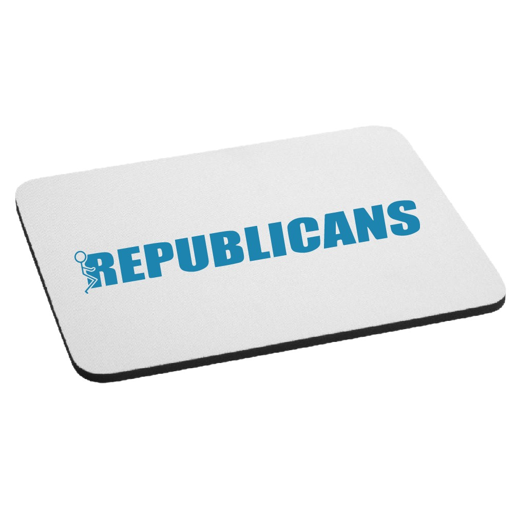 Funny Humping Stick Figure F*ck Republicans Mouse Pad