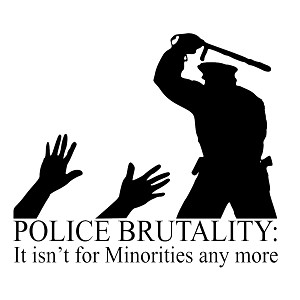 Police Brutality Minorities Funny Vinyl Sticker Car Decal
