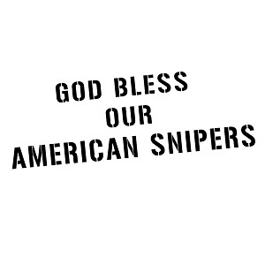 God Bless Our American Snipers Patriotic Vinyl Sticker Car Decal