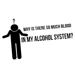 Funny Blood in My Alcohol System Vinyl Sticker Car Decal