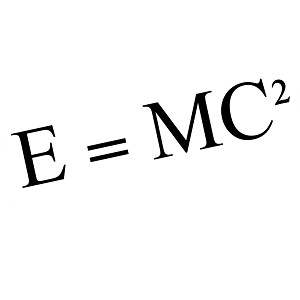 E=MC2 Einstein Math Equation Vinyl Sticker Car Decal