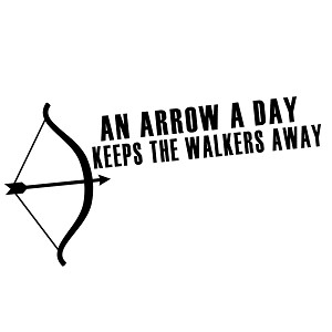 An Arrow a Day Keeps the Walkers Away Zombies Vinyl Sticker Car Decal