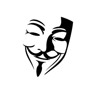 Vendetta Inspired Mask Silhouette Vinyl Sticker Car Decal