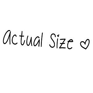 Actual Size Small Cute Girly Vinyl Sticker Car Decal