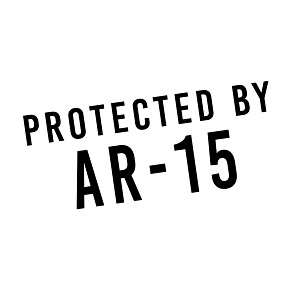 Protected By AR-15 Rifle Gun Patriotic Vinyl Sticker Car Decal