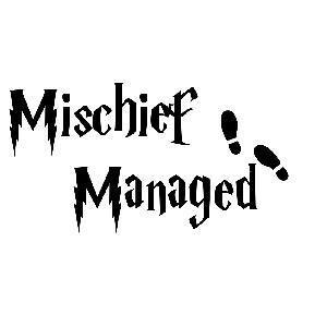Hp Mischief Managed Map Footprints Vinyl Sticker Car Decal
