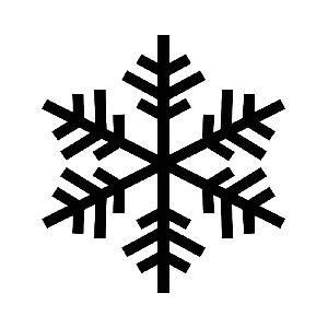 Snowflake Outline Silhouette Winter Vinyl Sticker Car Decal