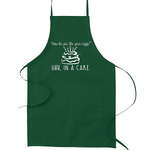 How Do You Like Your Eggs? Uhh in a Cake Funny Parody Cooking Baking Kitchen Apron