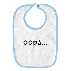 Oops… Funny Parody Infant Baby Bib