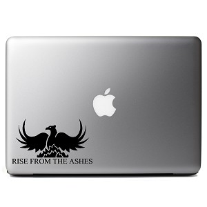 Rise From the Ashes Phoenix Vinyl Sticker Laptop Decal