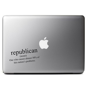 Funny Republican Definition Political Vinyl Sticker Laptop