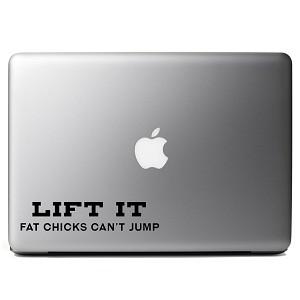 46910e27 Funny Lift it Truck Jeep Fat Girls Can't Jump Lift Kit Vinyl Sticker ...
