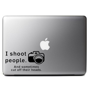 I Shoot People and Cut Off Their Heads Funny Photographer Camera Vinyl  Sticker Laptop Decal