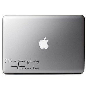 It's a Beautiful Day to Save Lives Derek Shepherd Grey's Vinyl Sticker Laptop Decal