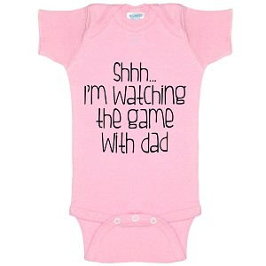 Shhh... I'm Watching The Game With Dad Funny Baby Bodysuit Infant