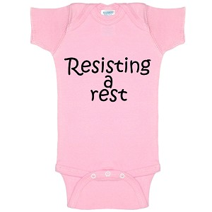 Resisting A Rest Funny Baby Bodysuit Infant