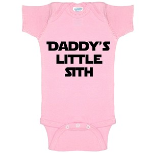 Daddy's Little Sith Funny Baby Bodysuit Infant