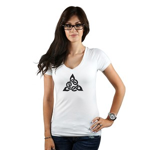 Triangular Celtic Cross Knot Women's T-Shirt