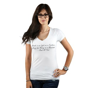 Death is Light as a Feather Quote Women's T-Shirt
