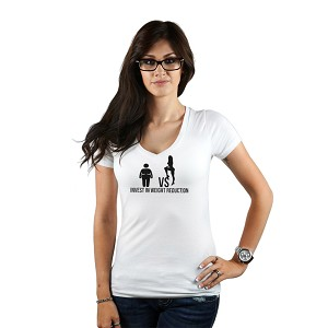 fdd714e55e8c Invest in Weight Reduction Sexy Girl Funny Women's T-Shirt