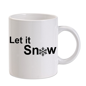 Let It Snow Snowflake Winter 11 oz. Novelty Coffee Mug