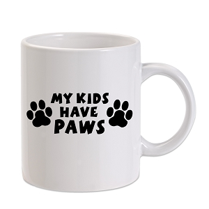 My Kids Have Paws 11 oz. Novelty Coffee Mug