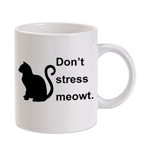Don't Stress Meowt Cat 11 oz. Novelty Coffee Mug