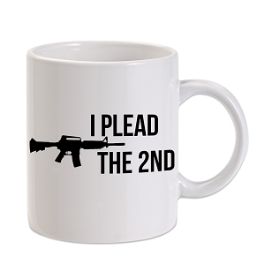 I Plead The 2nd Amendment AR-15 Rilfe 11 oz. Novelty Coffee Mug