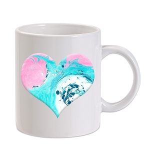 Marble Heart 11 oz. Novelty Coffee Mug